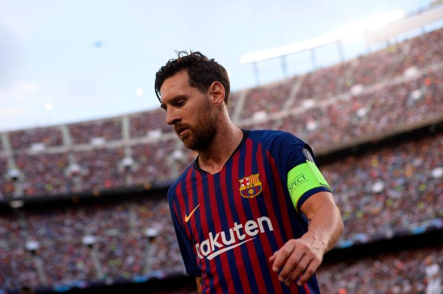 63945afc9c2 Barcelona's Argentinian forward Lionel Messi runs during the UEFA Champions'  League group B football match