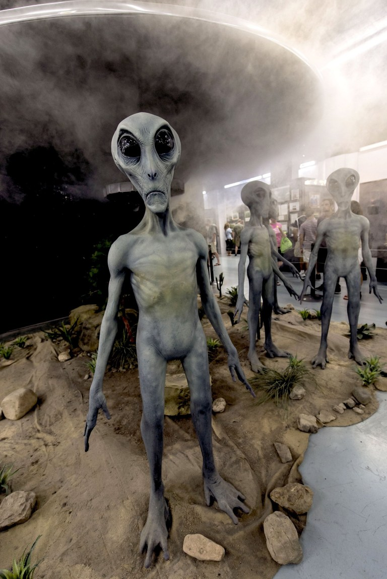 Mandatory Credit: Photo by ZUMA/REX/Shutterstock (4895501f) Site of the alleged alien spacecraft crash on July 7, 1947, the town of Roswell has embraced the controversies surrounding that (non) event to put on a four-day festival that attracts conspiracy theorists, their minions and curious tourists. Roswell UFO Festival, New Mexico, America - 03 Jul 2015