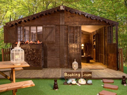 You can stay in a cottage made out of chocolate for £45