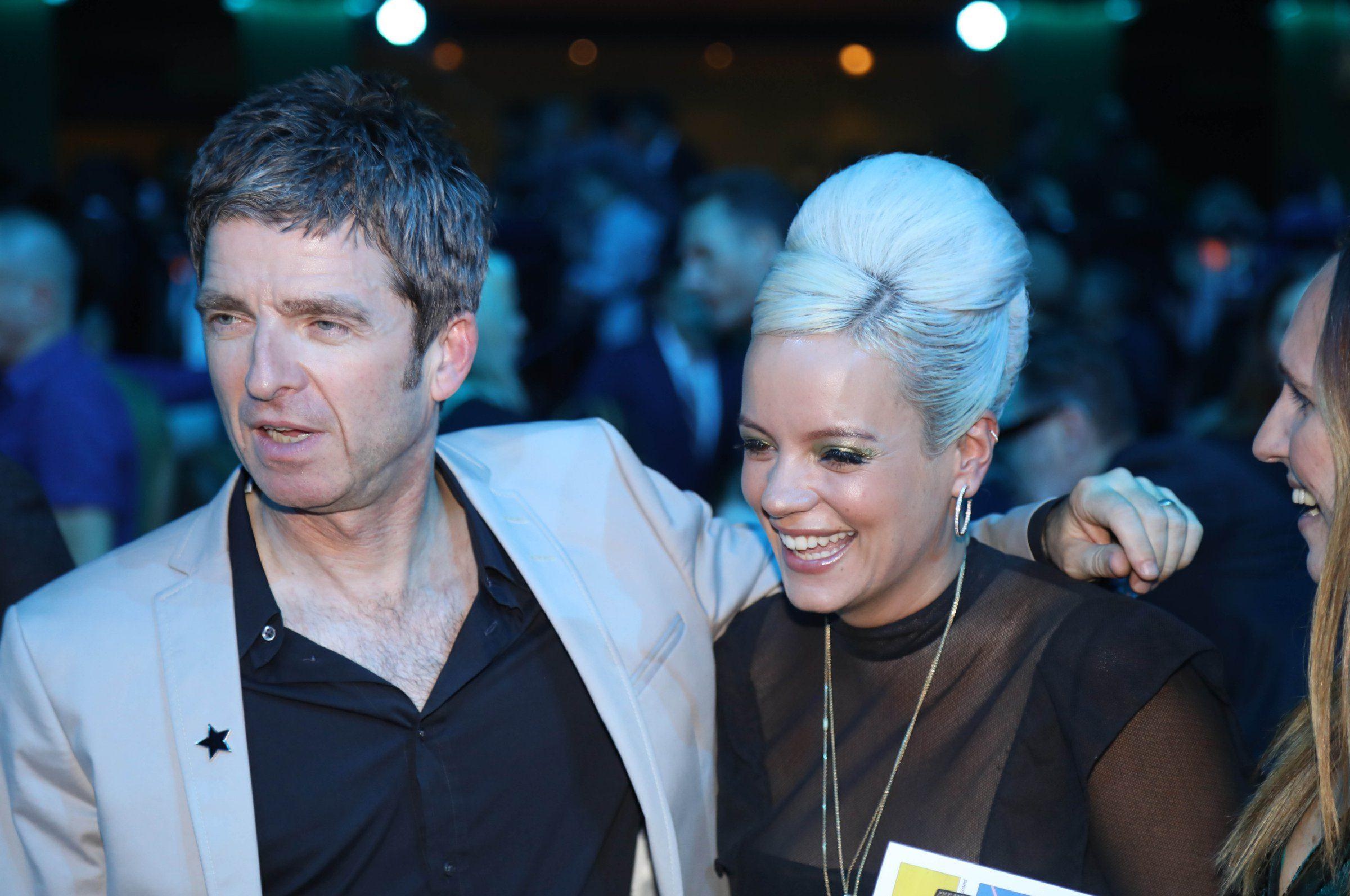Mandatory Credit: Photo by JM Enternational/REX (9887963fq) Noel Gallagher embraces Lily Allen Mercury Prize Albums of the Year, London, UK - 20 Sep 2018