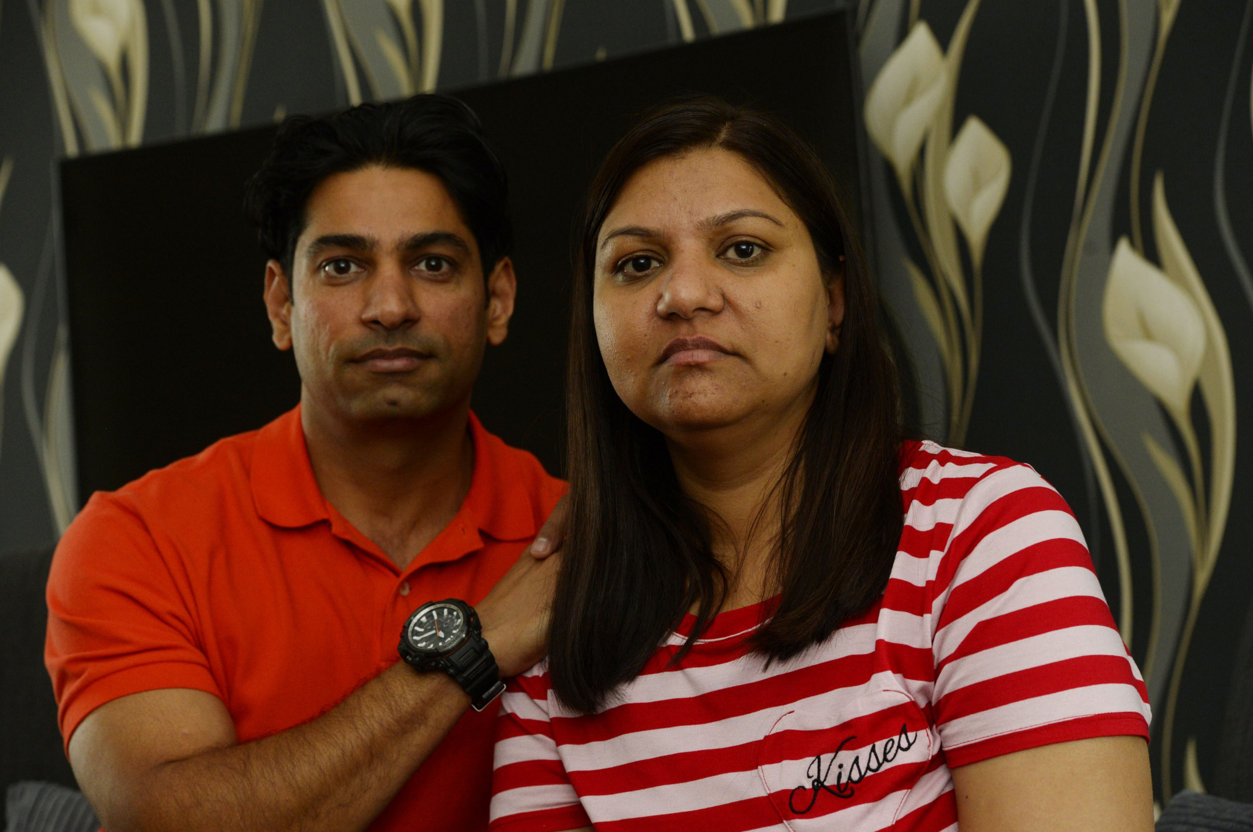 Ram Kumar Singh and his wife Sunaina who have put stickers on their cars advertising for a new kidney donor for her as she's had the transplant operation cancelled twice and is currently having dialysis three times a week.