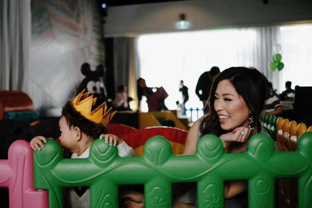 (Picture: Harold Lord) An Australian mother has revealed the tragic reason behind why she spent $13,000 on her son, Lachlan's, first birthday party last month. Jackie Lam, 31, from Melbourne, struggled to conceive for months, before she suffered a miscarriage the year before last. Lachlan was the doting mother's 'rainbow baby' - the first baby born after the tragic loss of a child by miscarriage. 'I have always been someone who is into parties and events, and someone who likes to bring people together,' Jackie told FEMAIL. 'I knew I wanted this day to be special, and it was bittersweet.'