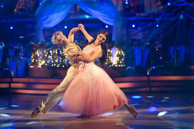 Embargoed to 2035 Saturday September 22 For use in UK, Ireland or Benelux countries only Undated BBC handout photo of AJ Pritchard and Lauren Steadman during a dress rehearsal for Strictly Come Dancing. PRESS ASSOCIATION Photo. Issue date: Saturday September 22, 2018. See PA story SHOWBIZ Strictly. Photo credit should read: Guy Levy/BBC/PA Wire NOTE TO EDITORS: Not for use more than 21 days after issue. You may use this picture without charge only for the purpose of publicising or reporting on current BBC programming, personnel or other BBC output or activity within 21 days of issue. Any use after that time MUST be cleared through BBC Picture Publicity. Please credit the image to the BBC and any named photographer or independent programme maker, as described in the caption.