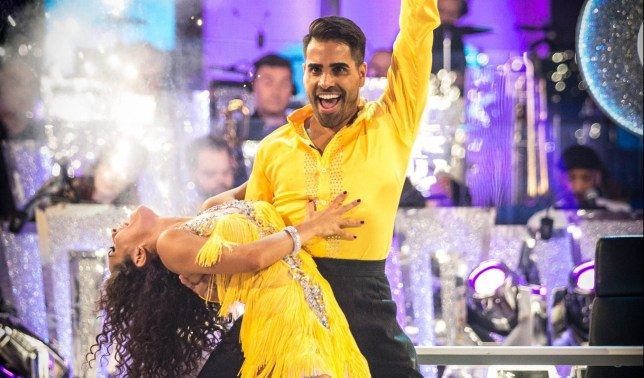 Embargoed to 2035 Saturday September 22 For use in UK, Ireland or Benelux countries only Undated BBC handout photo of Janette Manrara and Dr Ranj Singh during a dress rehearsal for Strictly Come Dancing. PRESS ASSOCIATION Photo. Issue date: Saturday September 22, 2018. See PA story SHOWBIZ Strictly. Photo credit should read: Guy Levy/BBC/PA Wire NOTE TO EDITORS: Not for use more than 21 days after issue. You may use this picture without charge only for the purpose of publicising or reporting on current BBC programming, personnel or other BBC output or activity within 21 days of issue. Any use after that time MUST be cleared through BBC Picture Publicity. Please credit the image to the BBC and any named photographer or independent programme maker, as described in the caption.