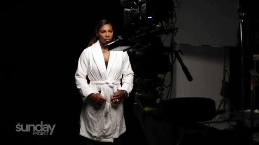 Serena Williams felt 'out of her comfort zone' as she goes topless for breast cancer awareness video