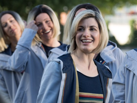 Jodie Whittaker poses with 12 lookalikes as Doctor Who premiere hits Sheffield