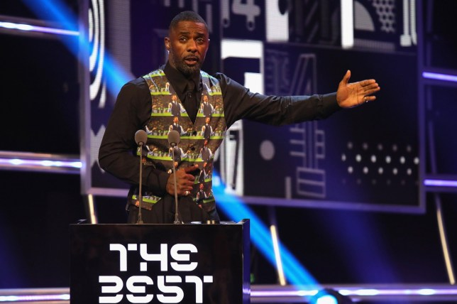 LONDON, ENGLAND - SEPTEMBER 24: Idris Elba wears a waist coat with pictures of Gareth Southgate during The Best FIFA Football Awards at Royal Festival Hall on September 24, 2018 in London, England. (Photo by Alexander Hassenstein - FIFA/FIFA via Getty Images)