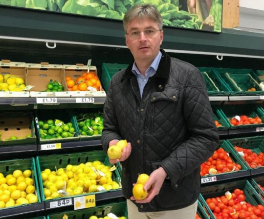 """Daniel Kawczynski """"Now at Tescos in Shrewsbury. Please remember EU protectionist racket means inefficient EU growers preferred to other non EU Mediterranean growers,due to massive tariffs imposed by EU. This leads to you paying more for your products! No more after March 2019! #Brexit"""""""