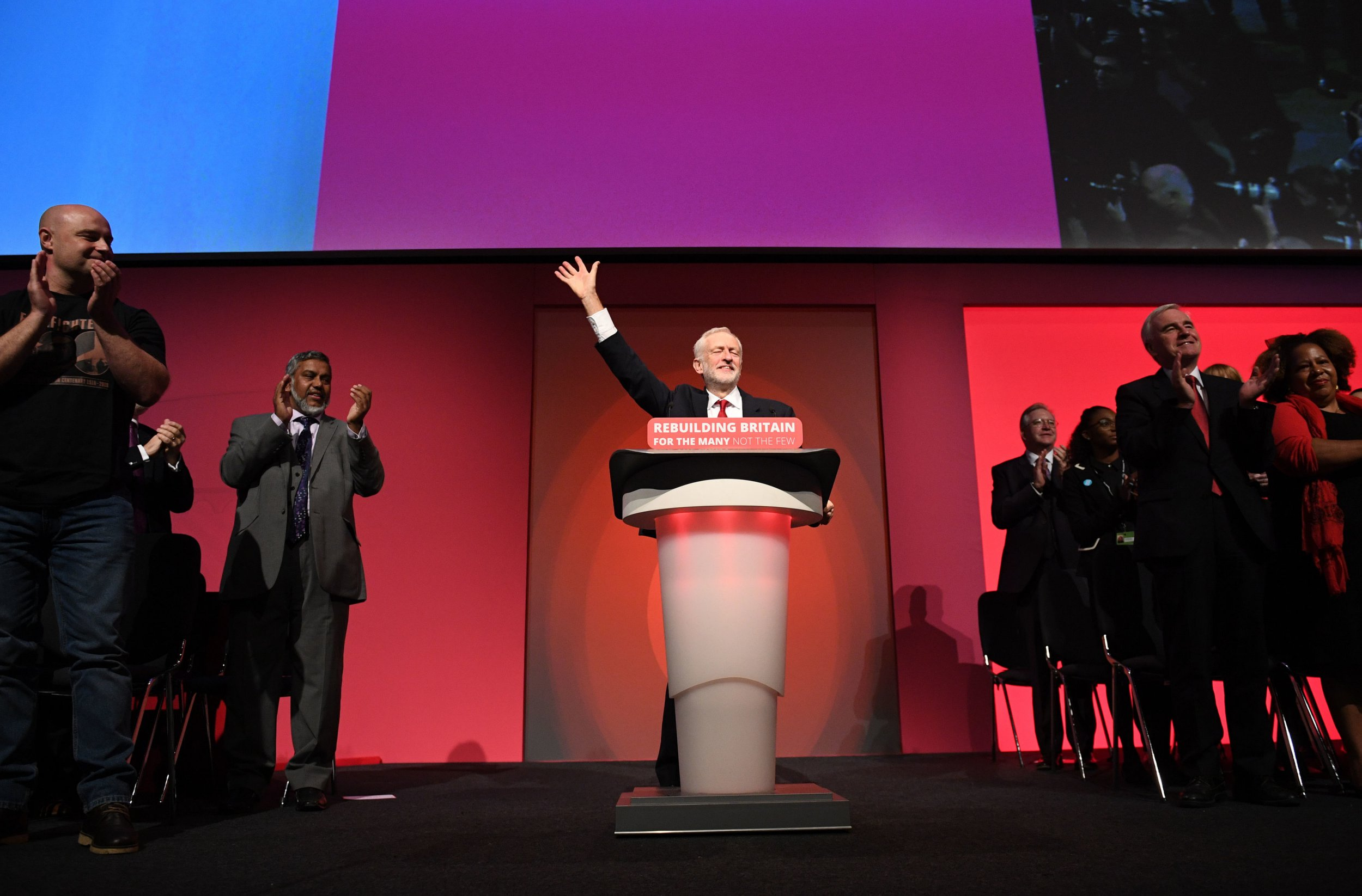 Labour leader Jeremy Corbyn giving his keynote speech at the party's annual conference at the Arena and Convention Centre (ACC), in Liverpool. PRESS ASSOCIATION Photo. Picture date: Wednesday September 26, 2018. See PA LABOUR stories. Photo credit should read: Stefan Rousseau/PA Wire