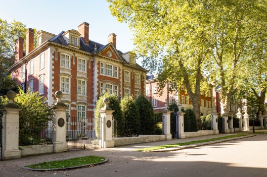 Mandatory Credit: Photo by Alex Segre/REX/Shutterstock (7727908ce) Mansions in Kensington Palace Gardens, London, England, UK Various - 2016