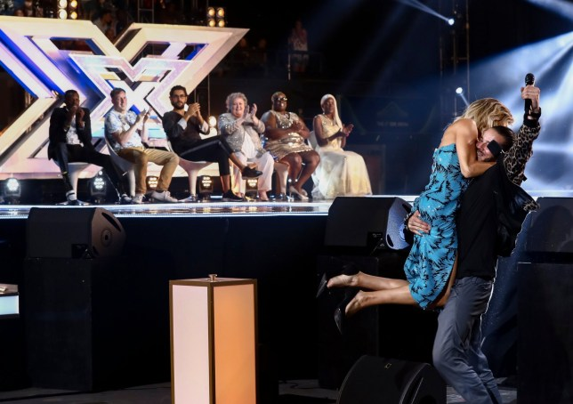 STRICT EMBARGO - NO USE BEFORE 22:05 SATURDAY 29TH SEPTEMBER 2018. EDITORIAL USE ONLY - NO MERCHANDISING Mandatory Credit: Photo by Dymond/Thames/Syco/REX (9903309i) Ayda Williams and Ricky Critcher 'The X Factor' TV show, Series 15, Episode 9, UK - 29 Sep 2018
