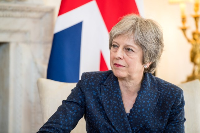 Theresa May, U.K. prime minister, reacts during her bilateral meeting with Erna Solberg, Norway's prime minister, inside number 10 Downing Street in London, U.K., on Wednesday, June 6, 2018. European Commission President??Jean-Claude Juncker told??Solberg??that the U.K.'s decision to leave the 28-nation bloc won't impact Norway or its relations with the EU. Photographer: Chris J. Ratcliffe/Bloomberg via Getty Images