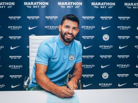 Sergio Aguero extends Manchester City contract to 2021