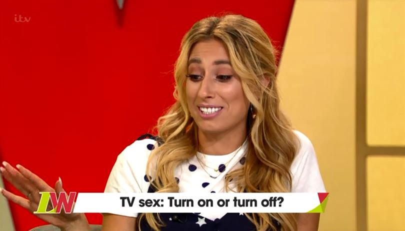 Stacey Solomon reckons she's 'lazy' at sex after watching Bodyguard and Wanderlust