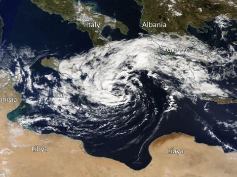 Rare 'medicane' weather phenomenon to batter Greek islands