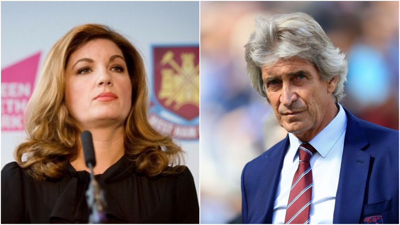 Karren Brady has 'complete faith' in new West Ham manager Manuel Pellegrini despite poor start to season