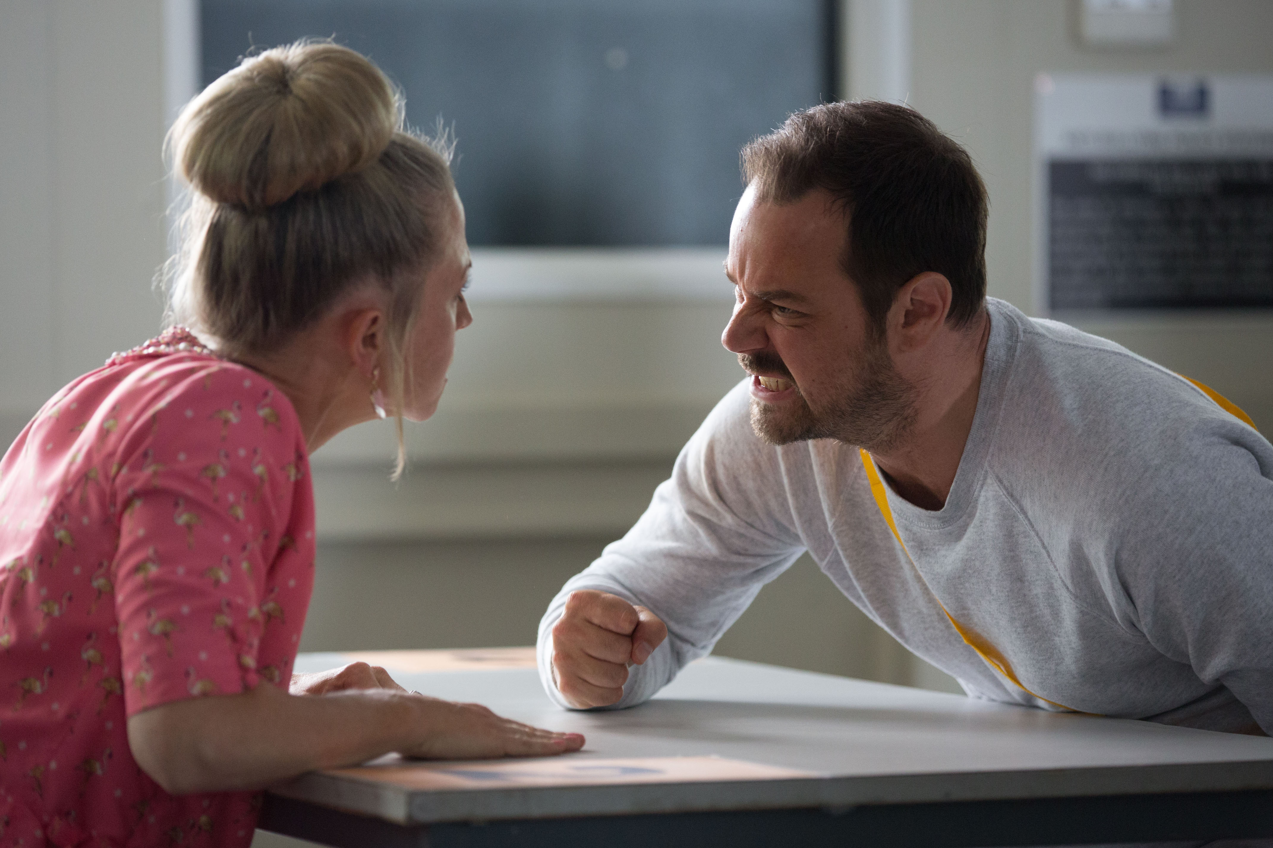 Mick and Linda have an angry argument in EastEnders