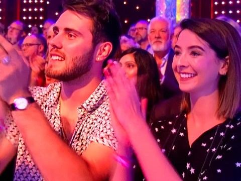 Zoella supports her brother Joe Sugg wth Alfie Deyes in the audience at Strictly Come Dancing's first live show