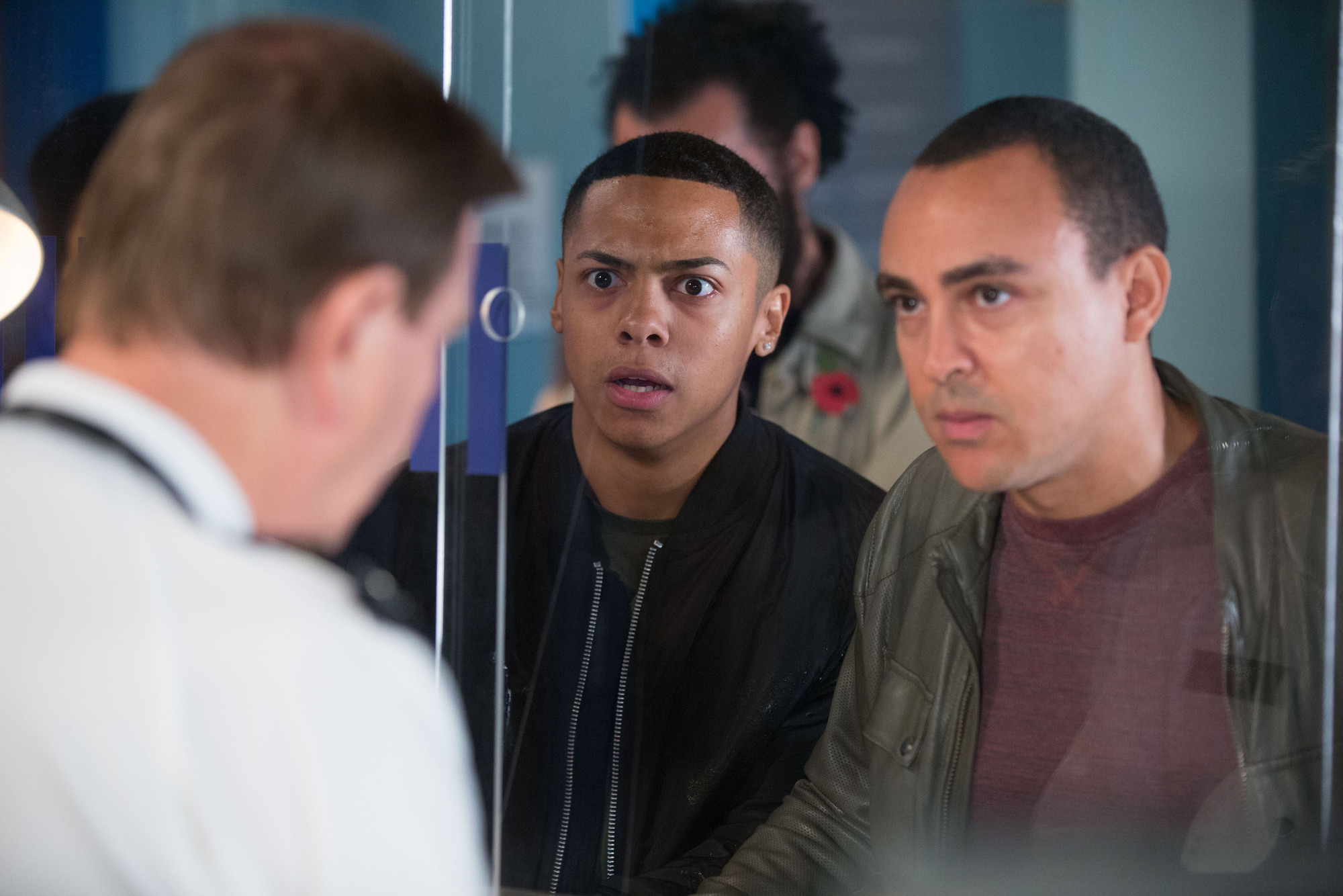 Keegan goes to a police station in EastEnders