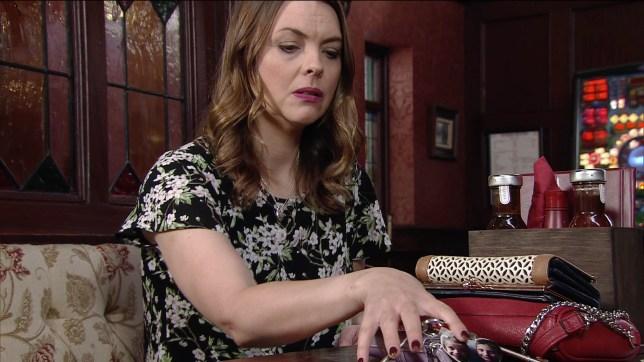 Tracy is plotting in Coronation Street
