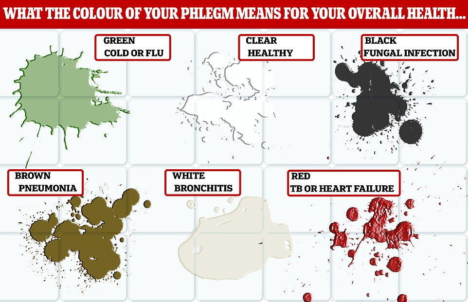 Picture: MailOnline Phlegm colour