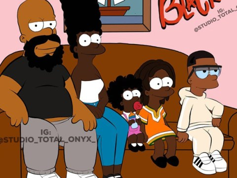 This illustrator has been re-imagining cartoon shows with an all-black cast