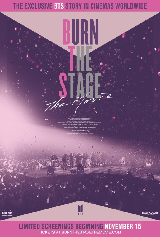 BTS Burn The Stage UK release date and where to get tickets for the