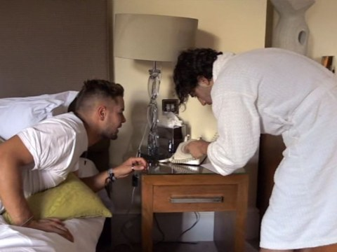 Chris Hughes and Kem Cetinay baffled by rotary phone on Celebrity Hunted and viewers feel old