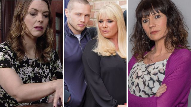 Soap spoilers for Coronation Street Tracy, EastEnders Sharon and Keanu and Emmerdale Chas