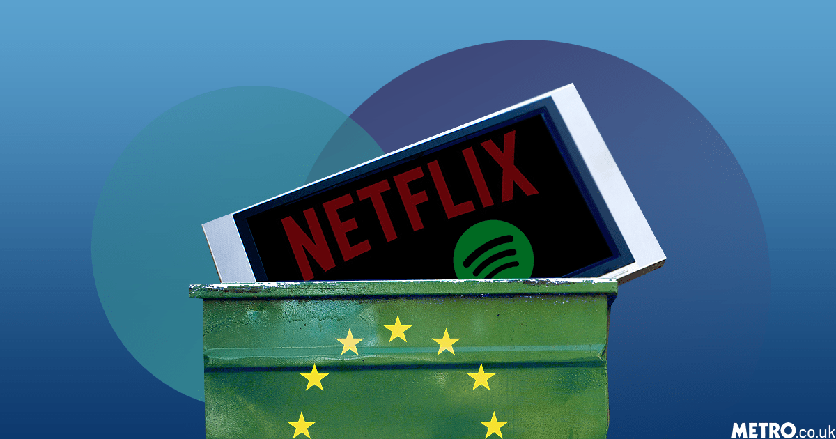 Spotify and Netflix could be blocked in a no deal Brexit Getty