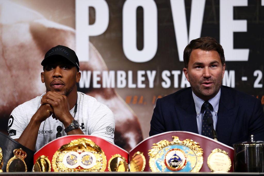 Anthony Joshua promoter Eddie Hearn launches astonishing attack on Deontay Wilder