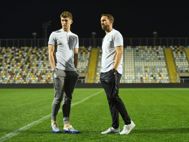 ea25b4c3c John Stones and Gareth Southgate walk on the pitch at Stadion HNK Rijeka  (Picture  Getty Images)