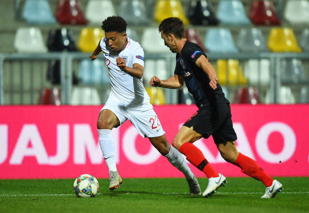 Jadon Sancho becomes second youngest player to ever play for England