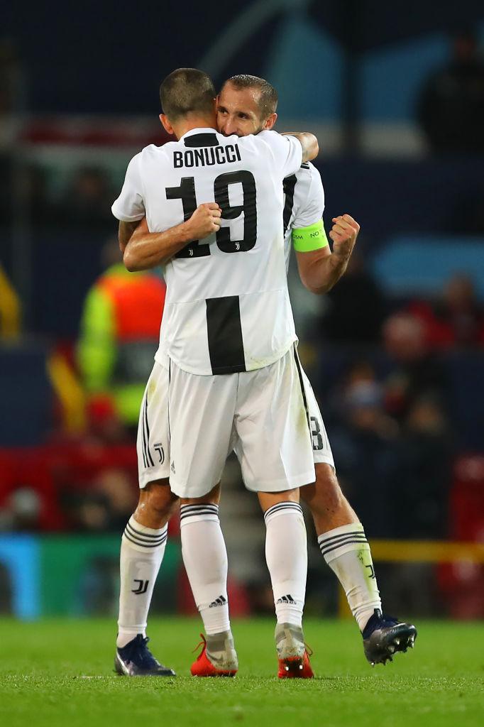 Manchester United boss Jose Mourinho praises Leonardo Bonucci and Giorgio Chiellini