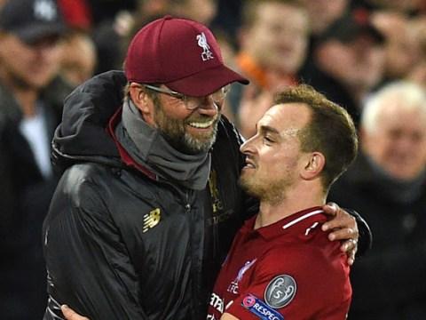 Jurgen Klopp rates Xherdan Shaqiri's performance in new role for Liverpool