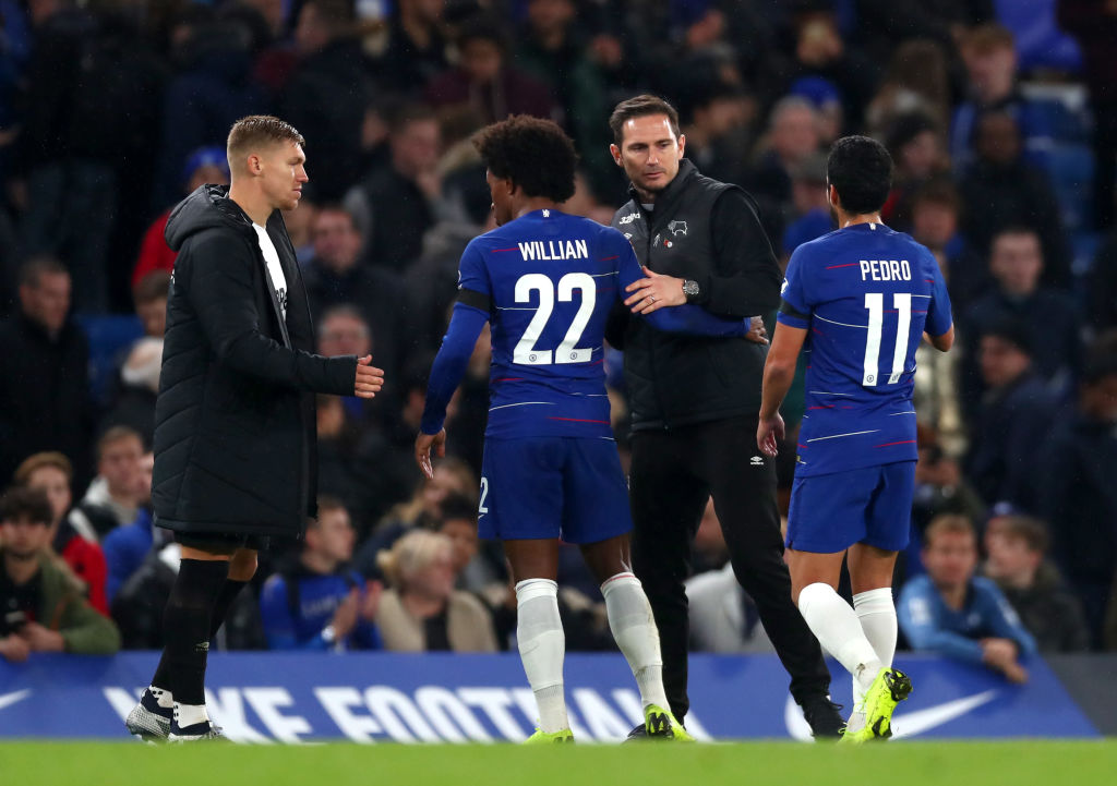 Frank Lampard reveals what Chelsea stars told him after beating his Derby County team in Carabao Cup