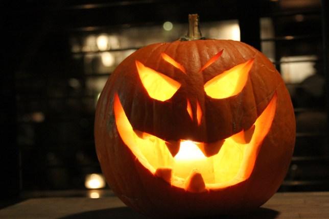 Carved pumpkin for Hallowen