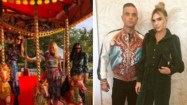 Robbie Williams, Ellie Goulding and Kate Moss at day 2 of Princess Eugenie's star-studded wedding bash