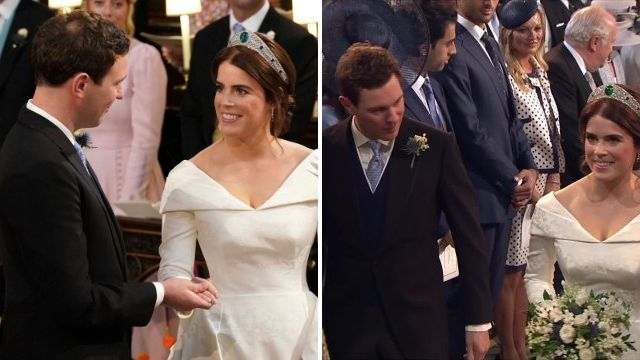 Jack Brooksbank whispered three words as Princess Eugenie walked down the aisle
