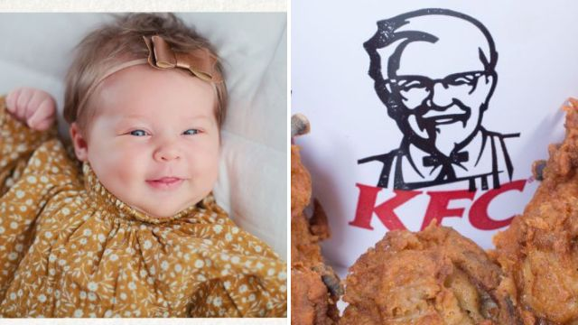 KFC give parents $11,000 for naming newborn baby daughter after Colonel Sanders