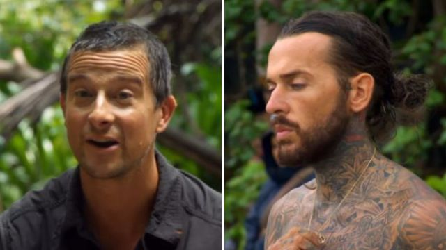 Bear Grylls and Pete Wicks row over Towie star stopping a pig from being eaten on Celebrity Island