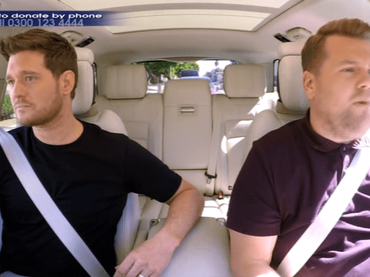 Michael Buble jokes about enjoying weight loss as his 'penis looks bigger' in hilarious Carpool Karaoke