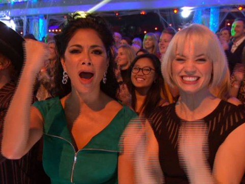 Nicole Scherzinger spotted supporting fellow Pussycat Ashley Roberts on Strictly Come Dancing's Halloween Special