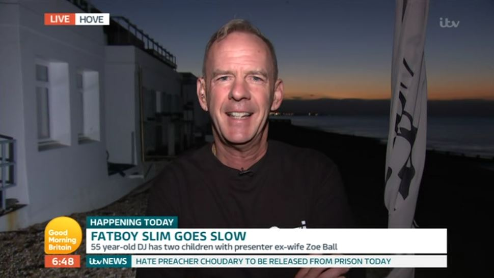 Viewers criticise Good Morning Britain for bringing up Zoe Ball in 'awkward' interview with ex Fatboy Slim