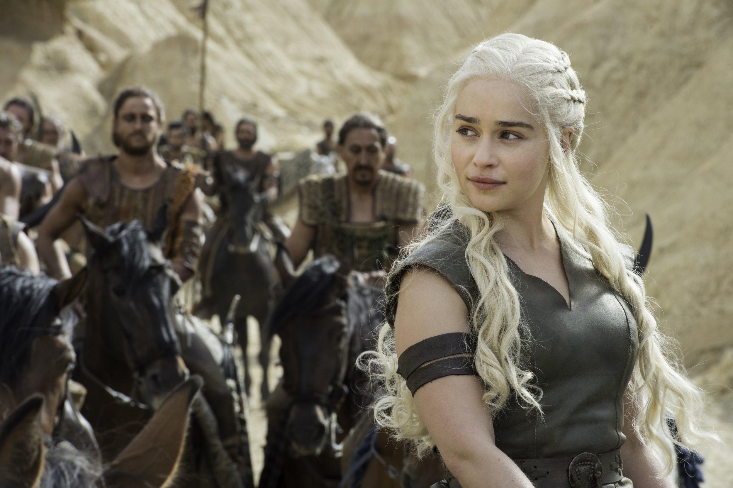 Television programme : Game of thrones. Emilia Clarke as Daenerys Targaryen
