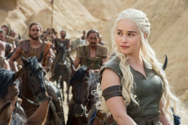 Television programme : Game of thrones. Emilia Clarke as Daenerys Targaryen