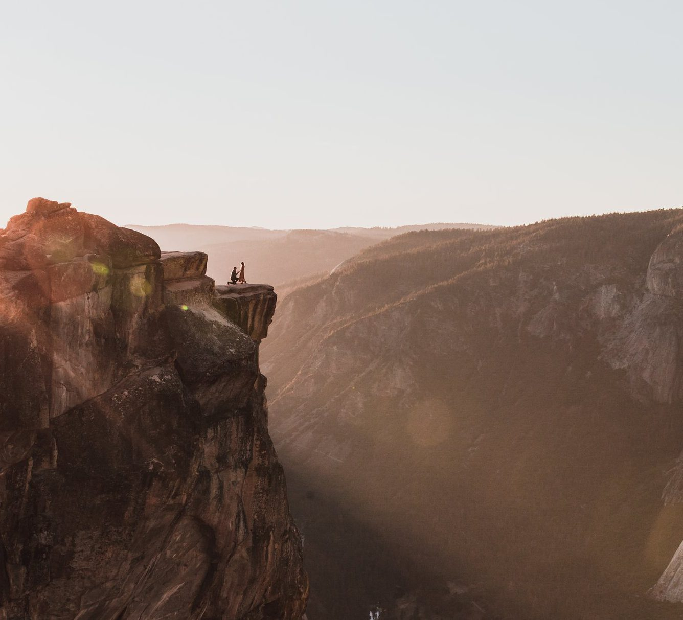 Do you recognise this couple? Twitter search for pair captured in proposal on mountain top continues