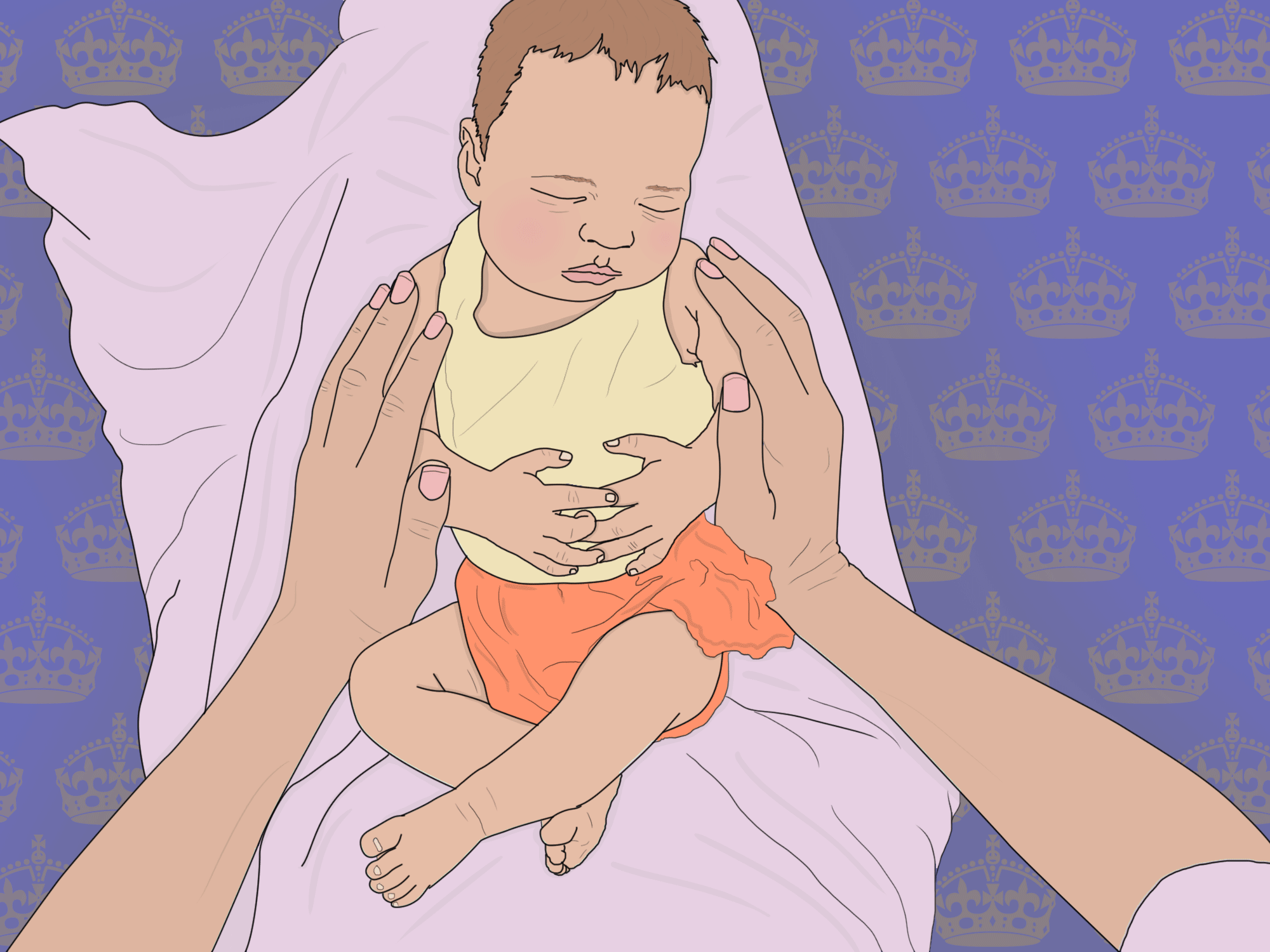 **ILLUSTRATION REQUEST*** Mums offer new mum advice to Duchess of Sussex