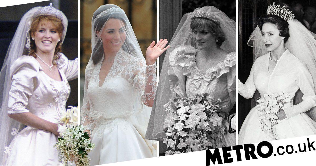 royal wedding dresses compared kate middleton meghan markle and more metro news royal wedding dresses compared kate