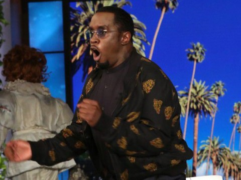 Diddy jumps out of skin as Ellen DeGeneres shows no mercy when it comes to his phobia of clowns